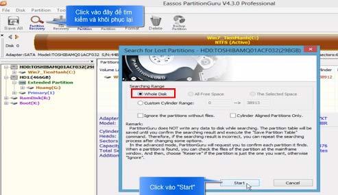 phần mềm Eassos Partition Guru